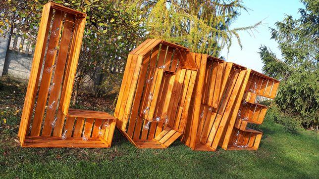 Napis litery rustykalny boho LOVE na wesele