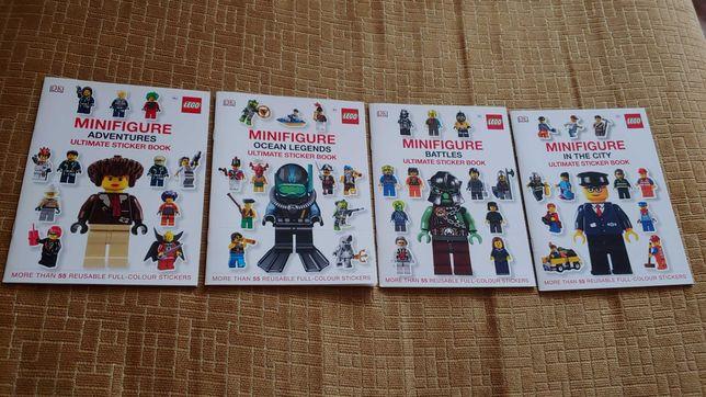 Наборы 4 книги LEGO минифигурки наклейки-оригинал из Англии.