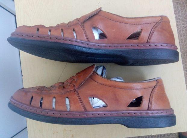 Мужские туфли босоножки Rieker натуральная кожа размер 40