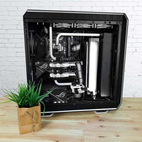 Геймерский игровой компьютер с кастомным водяным охлаждением