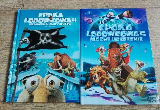 Film DVD 2 sztuki + ksiązka- Epoka lodowcowa 4 i 5