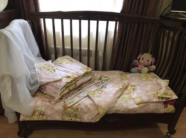 Детское постельное белье мишки балдахин комплект