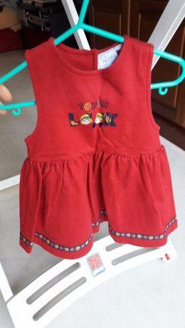 Vestido de bebé de algodão (6 meses)
