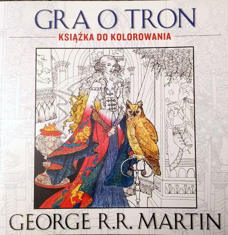 Gra o tron - książka do kolorowania z cytatami