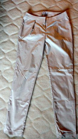Eleganckie spodnie Dan Hen, jasne, rozmiar 36, stan idealny
