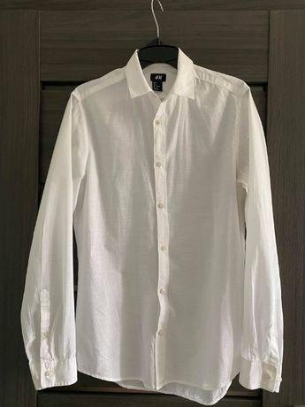Biała męska koszula H&M rozmiar S