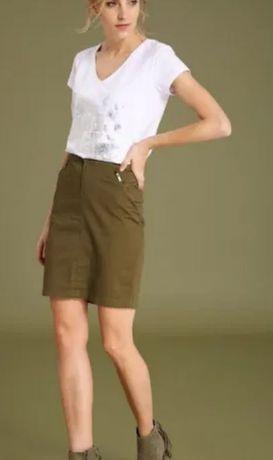 Spódnica midi zielona khaki TOP SECRET 42/XL