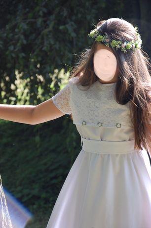 Sukienka komunijna Abla 140 gratis buty,wianek i worek