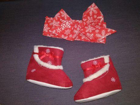 Новогодняя обувь, сапожки, аксессуары для фотосессии +подарок