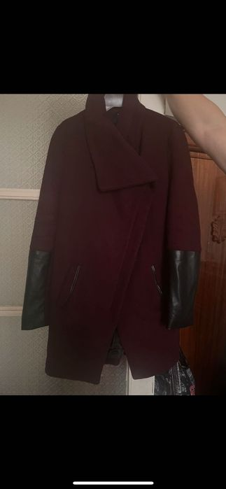 Bordowy płaszcz Bershka M Maków Mazowiecki - image 1