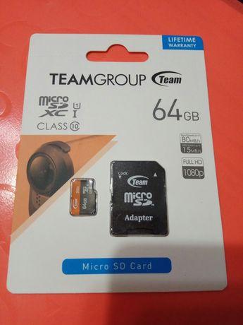 Micro SD 64 Gb карточка