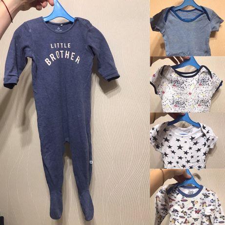 Человечек, боди Next 80р Carter's (цена за всё) слип, пижама