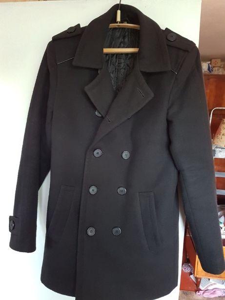 Мужское двубортное полу пальто