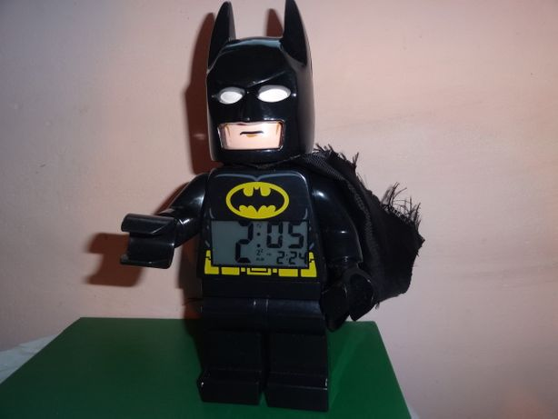 Lego Bathman Бэтмен настольные часы с будильником с подсветкой 23см