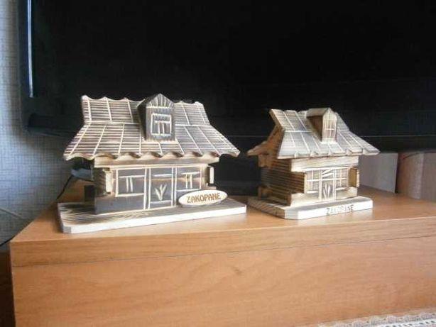 Drewniane domki , chatki góralskie - skarbonki
