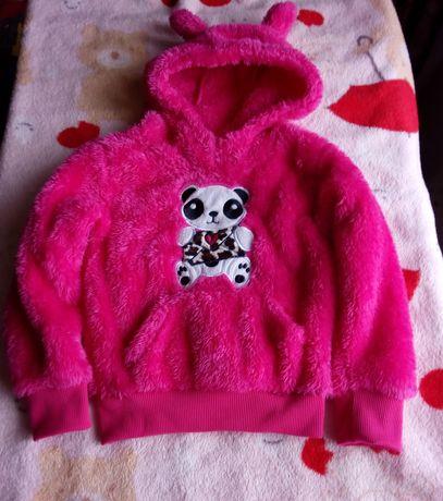 Невероятно красивый яркий новый плюшевый свитшот свитер на девочку 4