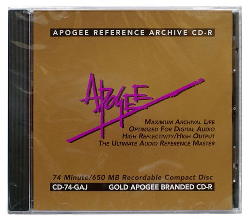 CD-R Gold Apogee Ultimate Audio Reference Master ( made in USA )