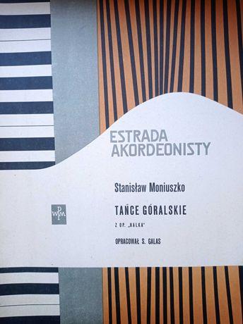 Rzadkie nuty akordeon Estrada akordeonisty 58 r. Moniuszko
