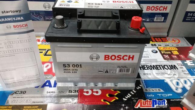 Akumulator Bosch S3001 12V 41Ah 360A A17 P+ dowóz montaż Kraków Azory