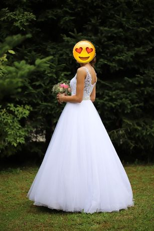Suknia ślubna biała klasyczna roz, 34-36.