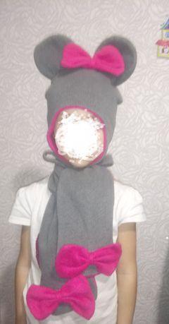 Шапка шарф, комплект зима