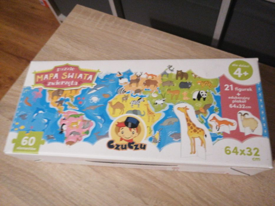 Puzzle mapa świata Głuchołazy - image 1