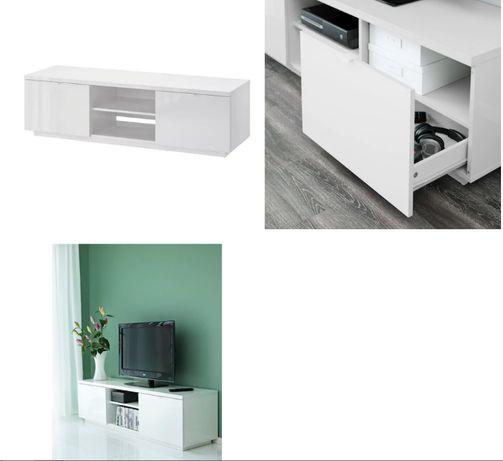 *REZERWACJA* Szafka pod TV IKEA BYÅS, połysk biały160x42x45 cm
