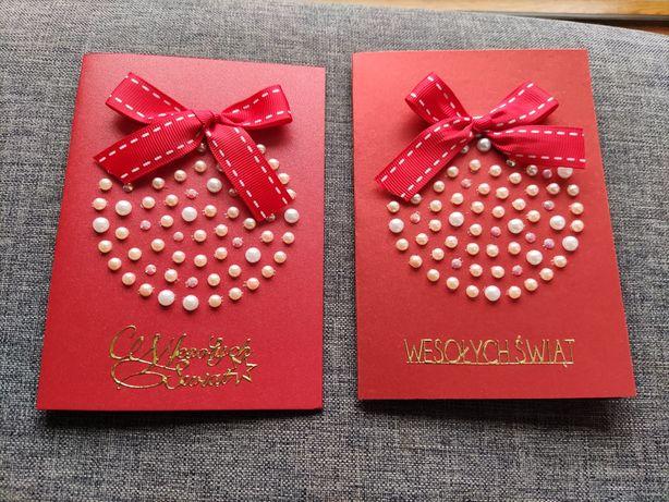Kartki ręcznie robione świąteczne