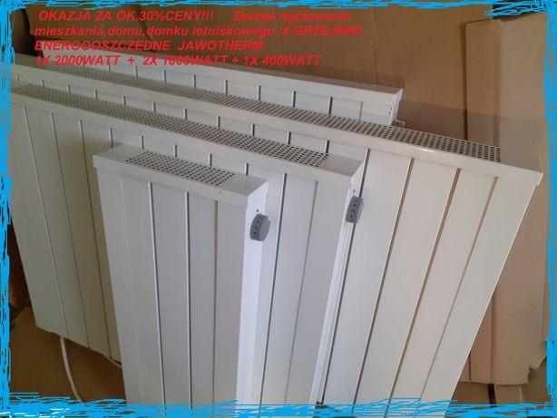 Ogrzewanie 4x grzejnik Jawo akumulacyjny elektryczny PV nie piec domek