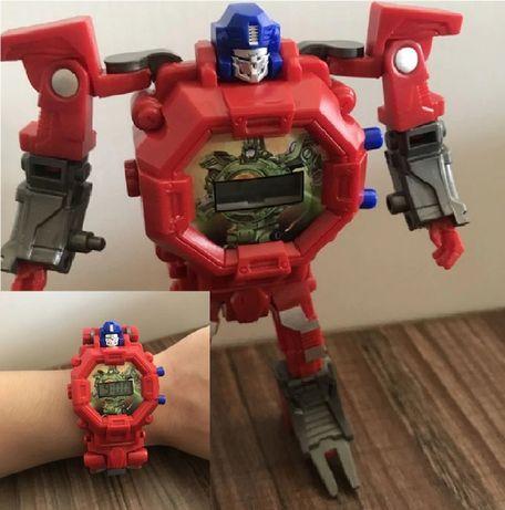 Детские Часы-трансформер Оптимус Прайм. Робот-трансформер и часы.