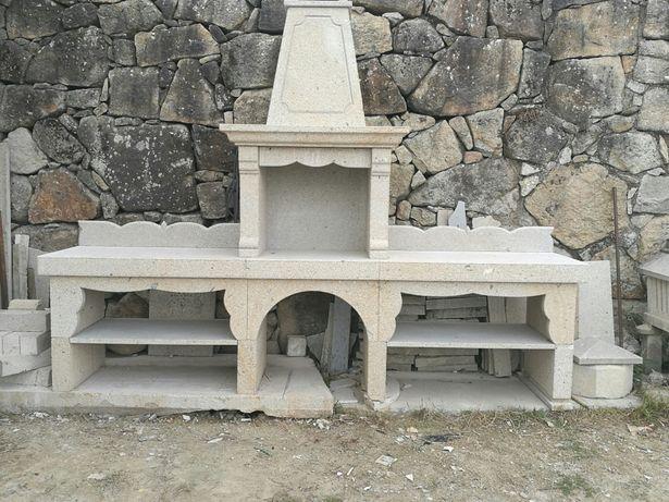 Churrasqueira em pedra