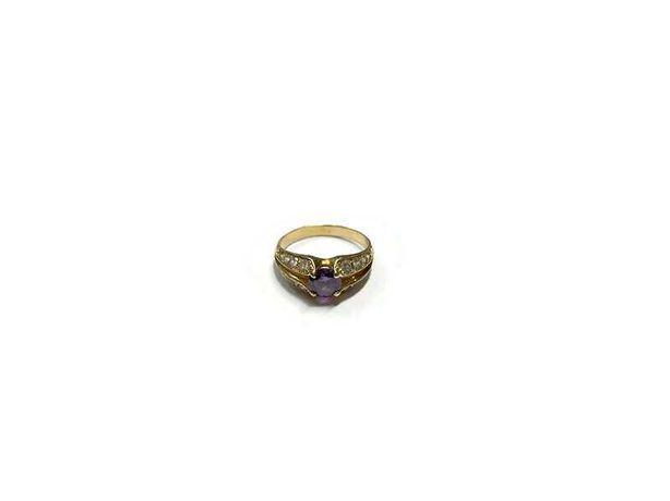Wyrób jubilerski używany – złoty pierścionek 585/r15
