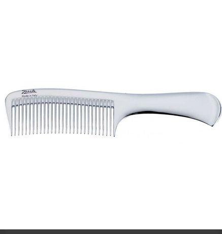 Гребень Janeke Chromium Wide-Teeth Comb With Handle