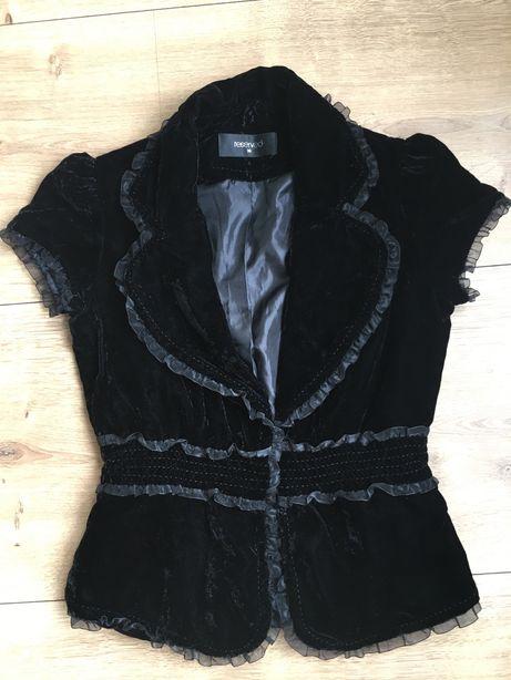 Czarny welurowy żakiet Reserved rozmiar 36