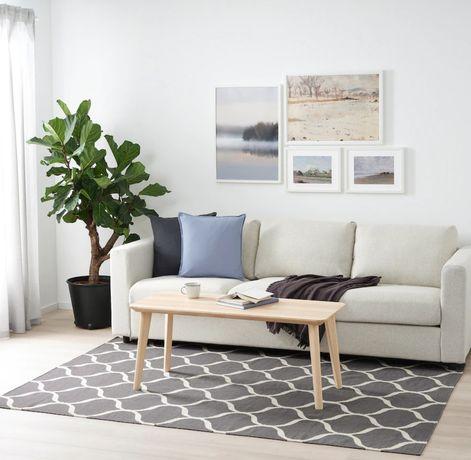 Tapete Ikea Stockholm preto e branco 240x170cm