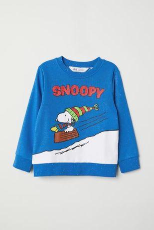 H&M 122/128 jak nowa bluza ze Snoopym