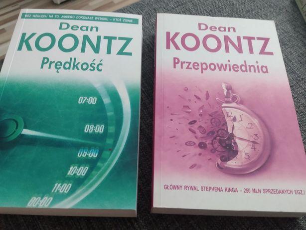 3 zł przesyłka Dean Koontz dwie książki Prędkość i Przepowiednia
