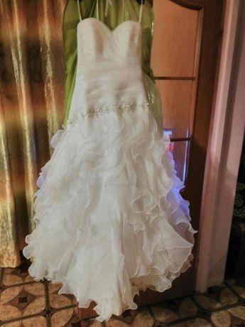 !Śliczna suknia ślubna.