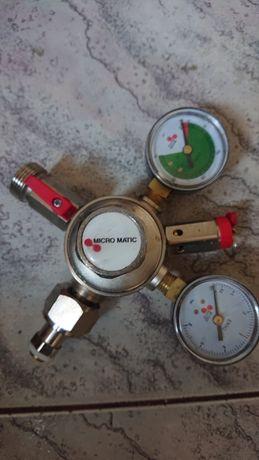 Reduktor gazu Co2 Premium Micro Matic, podwójny