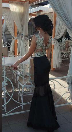 Вечернее платье-рыбка. Низ королевский атлас.