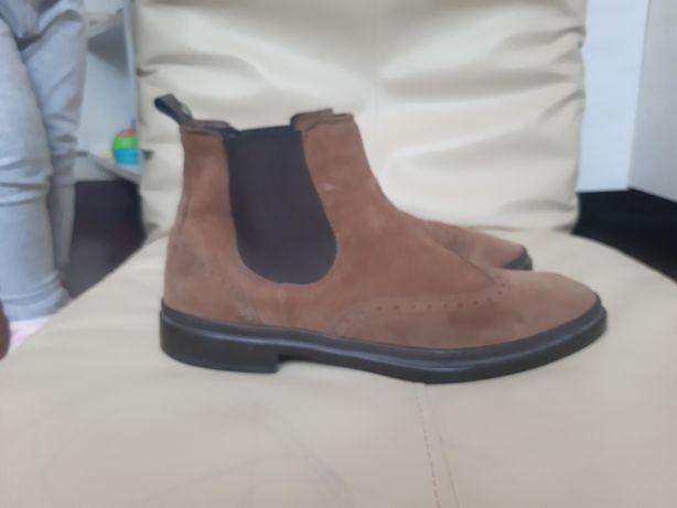 Мужские демисезонные ботинки челси. Стелька 30,5 см