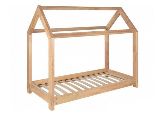 Łóżko dziecięce łóżeczko 70x140cm lita sosna +stelaż materaca DOMEK