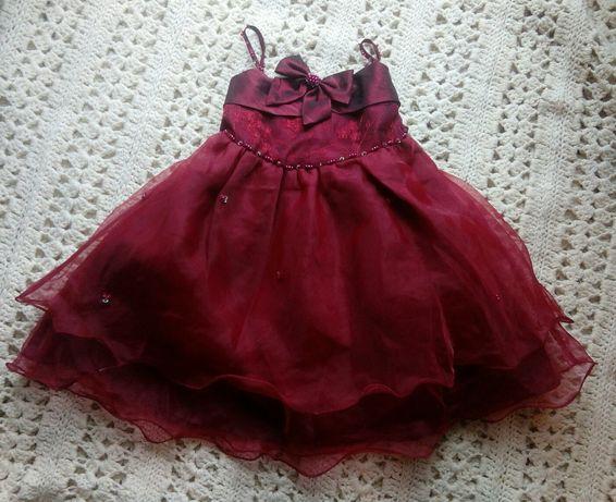 Sukienka balowa - zjawiskowa suknia dla małej księżniczki na 2l /K19.