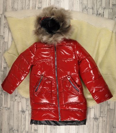 Зимнее пальто для девочки рост 146.152
