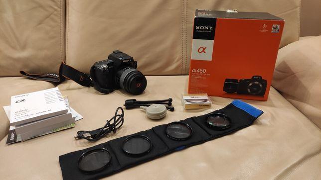 Cały zestaw Sony Alpha 450 14.2mpx