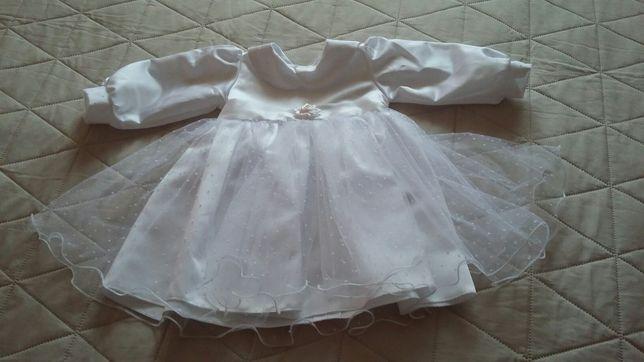 Zimowe ubranko do chrztu r.74
