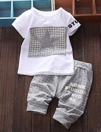 Conjunto malha calção e tshirt