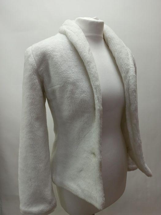 Свадебная шубка, 42 р-ра из искусственного меха белого цвета. Киев - изображение 1