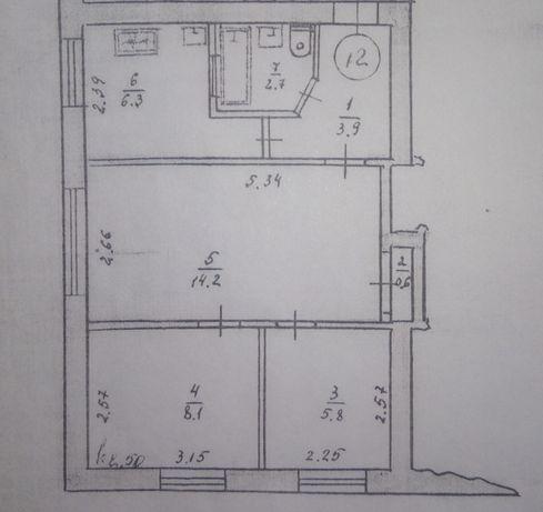 Продам 3-х км.кв квартиру в г.Новая Одесса