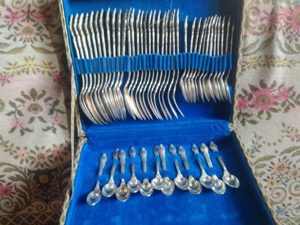 Винтажный Набор столовый из мельхиора  СССР на 12 персон 48 шт